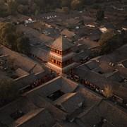 阆中古城中天楼