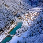 黑水县奶子沟冬景