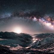 折多山夜空银河