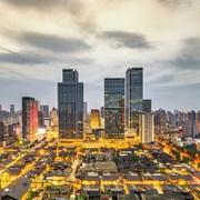太古里商业区和CBD楼群夜景