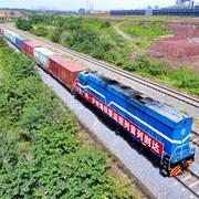 广州至泸州海铁联运班列首列到达泸州