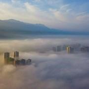 华蓥市区雾景