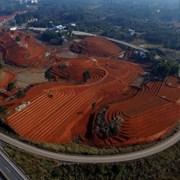 泸州纳溪:冬闲坡改梯  红土地上茶飘香