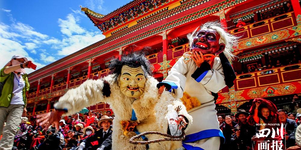 """藏族""""面具舞"""""""