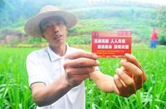 2015年7月1日,四川省泸州市叙永县纪委监察局的相关工作人员在给江门镇光照村4组的群众发放党风政风监督卡。