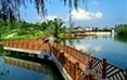 白庙子水库生态湿地公园内,园路、广场、游憩亭廊布局合理,市民游憩活动场地充足。