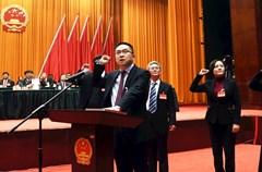 2017年12月29日添加到日历,四川省泸州市的人大代表们在投票,依法选举该市首届监察委员会主任。