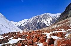 行走在四川甘孜藏族自治州、阿坝藏族羌族自治州境内,时不时会在一些河滩上看见色彩艳丽的红色石头,极具规模。千万别以为这是有人误将油漆泼洒在石头上所致,其实这是一种自然生态现象。